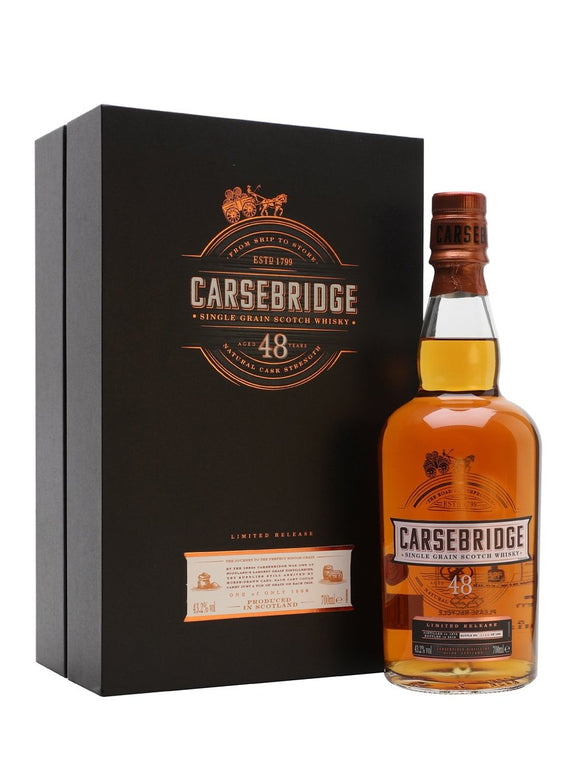 Distillery: Carsebridge Name: 48 Years ( Diageo 2018 Special Release ) Volume: 70CL ABV: 43.2% Notes: For Sale In Singapore Only Origin: Scotland