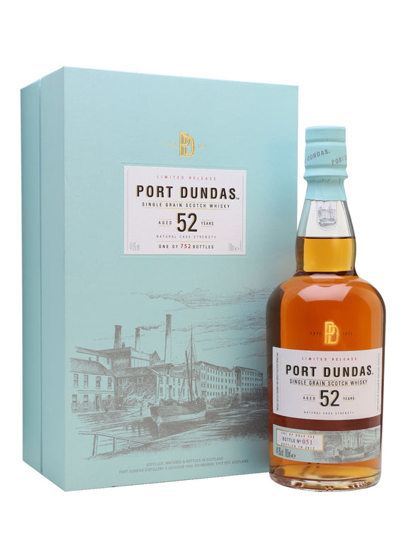 Distillery: Port Dundas Name: 52 Years ( Diageo 2017 Special Edition Release ) Volume: 70CL ABV: 44.6% Notes: For Sale In Singapore Only Origin: Scotland