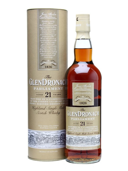 Distillery: Glendronach Name: 21 Years - Parliament Volume: 70CL ABV: 48% Notes: Single Malt Origin: Aberdeenshire, Highland, Scotland