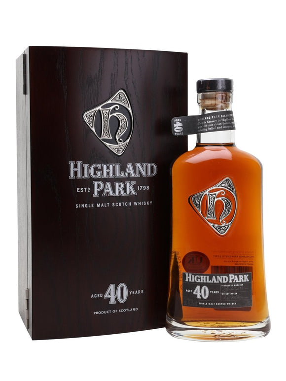 Distillery: Highland Park Name: 40 Years Volume: 70CL ABV: 47.5% Notes: For Sale In Singapore Only Origin: Kirkwall, Island, Scotland