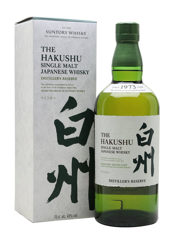 Distillery: Hakushu Name: Distiller's Reserve Volume: 70CL ABV: 43% Notes: Single Malt Origin: Japan