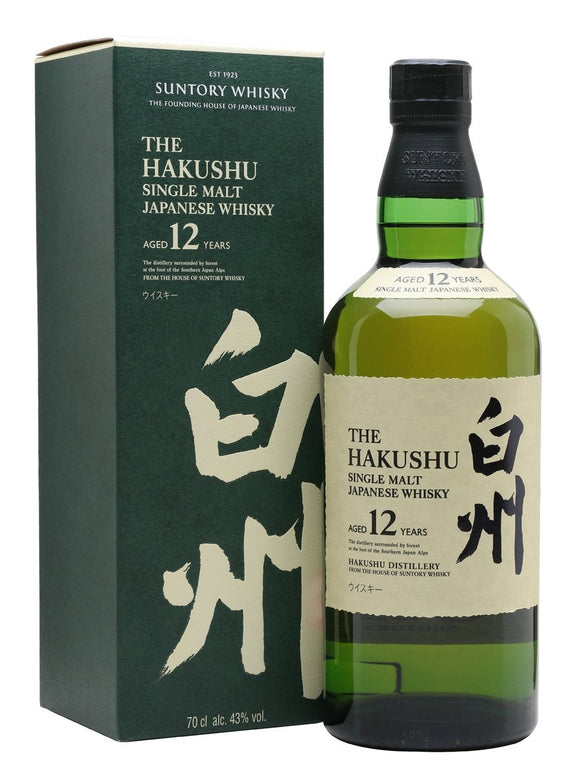 Distillery: Hakushu Name: 12 Years Volume: 70CL ABV: 43% Notes: Single Malt Origin: Japan
