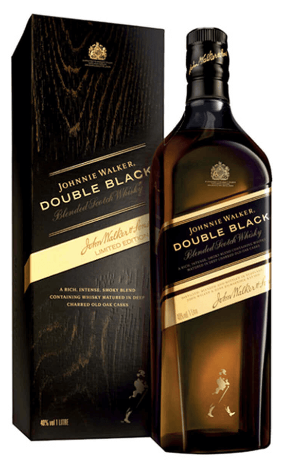 Distillery: Johnnie Walker Name: Double Black Volume: 1L ABV: 40% Notes: Blended Malt Origin: Scotland
