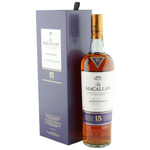 Distillery: The Macallan Name: 15 Years Gran Reserva Volume: 70CL ABV: 43% Notes: Special Editions : Scotland Origin: Craigellachie, Speyside, Scotland