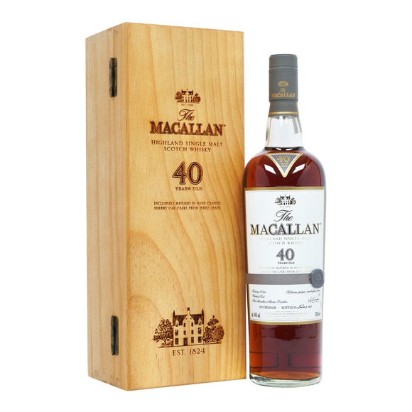 Distillery: The Macallan Name: 40 Year 2017 Volume: 70CL ABV: 44% Notes: Special Editions : Scotland Origin: Craigellachie, Speyside, Scotland