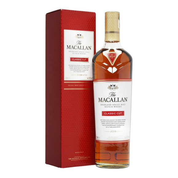 Distillery: The Macallan Name: Classic Cut 2019 Volume: 70CL ABV: 52.9% Notes: Single Malt Origin: Craigellachie, Speyside, Scotland