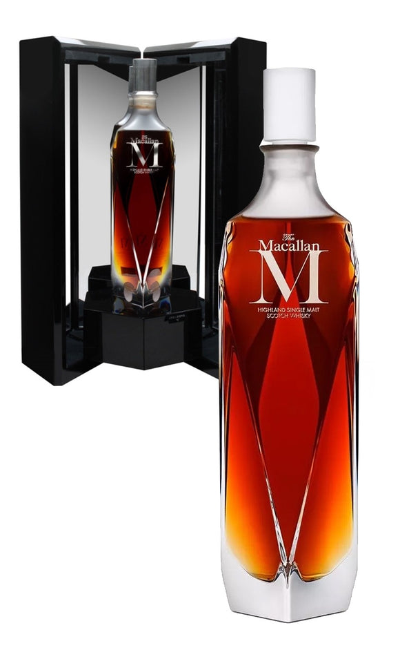 Distillery: The Macallan Name: M Lalique Decanter 4 Availble in Singapore and one in HK Volume: 70CL Notes: Special Editions : Scotland Origin: Craigellachie, Speyside, Scotland