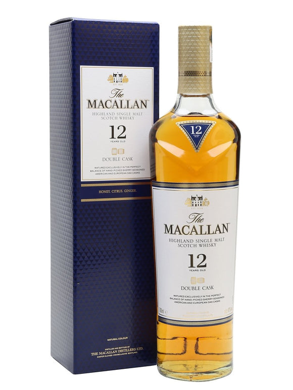 Distillery: The Macallan Name: 12 Years Double Cask Volume: 70CL ABV: 40% Notes: Single Malt Origin: Craigellachie, Speyside, Scotland