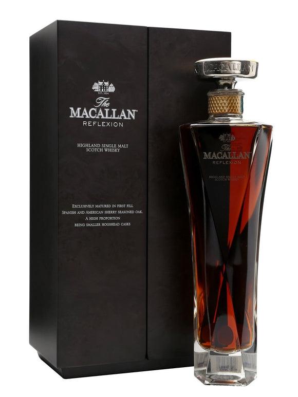Distillery: The Macallan Name: Reflexion Oonly in Singapore) Volume: 70CL ABV: 43% Notes: Single Malt Origin: Craigellachie, Speyside, Scotland