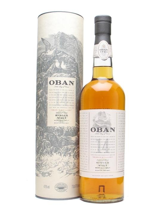 Distillery: Oban Name: 14 Years Volume: 70CL ABV: 43% Notes: Single Malt Origin: Oban, Highland, Scotland