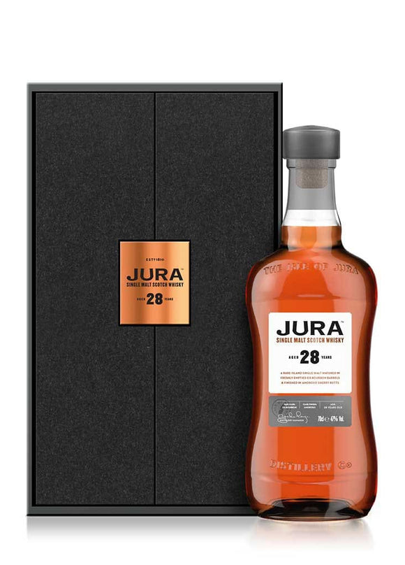 Distillery: Jura Name: 28 Volume: 70CL ABV: 47% Notes: Single Malt Origin: Craighouse, Jura, Island, Scotland