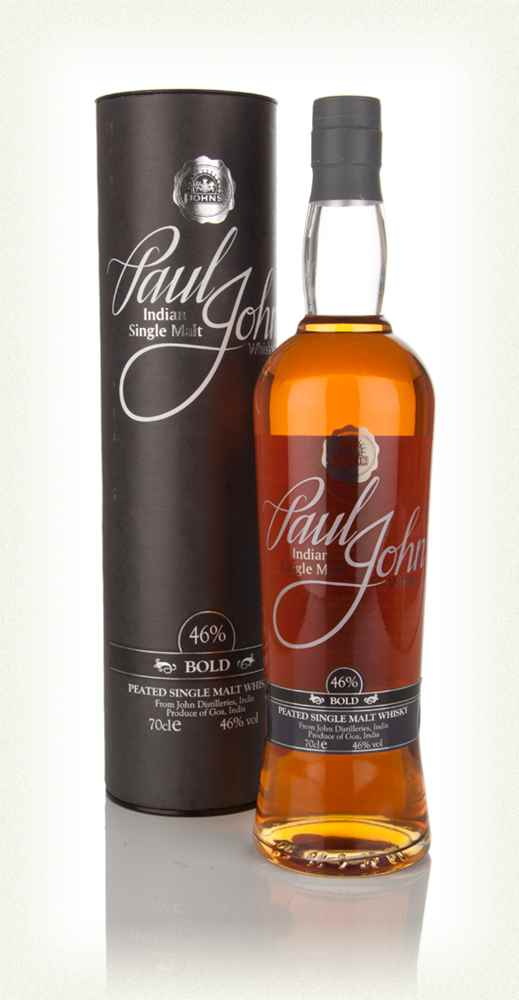 Distillery: Paul John Name: Bold Volume: 70CL ABV: 46% Notes: Blended Malt Origin: India