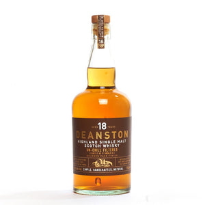 Distillery: Deanston Name: 18 Years Volume: 75CL ABV: 46.3% Notes: Single Malt Origin: Doune, Highland, Scotland