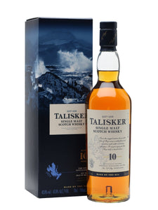 Distillery: Talisker Name: 10 Years Volume: 70CL ABV: 45.8% Notes: Single Malt Origin: Carbost, Isle of Skye, Island, Scotland