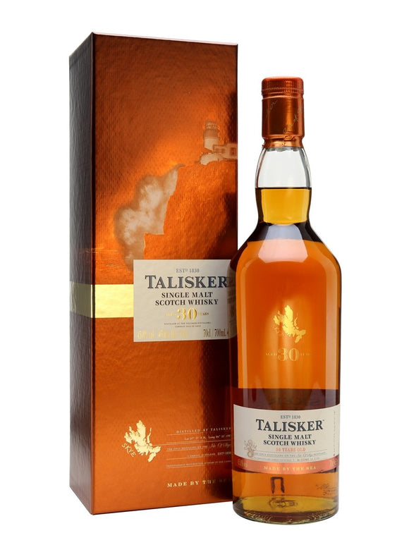 Distillery: Talisker Name: 30 Years Volume: 70CL ABV: 45.8% Notes: For Sale In Singapore Only Origin: Carbost, Isle of Skye, Island, Scotland
