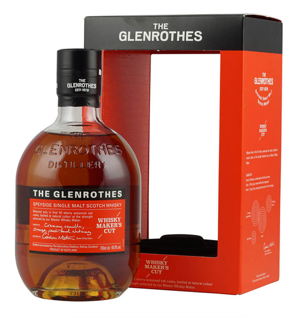 Distillery: The Glenrothes Name: Whisky Maker's Cut Volume: 70CL ABV: 48.8% Notes: Single Malt Origin: Rothes, Speyside, Scotland