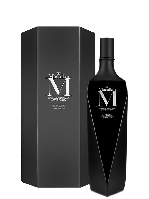 Distillery: The Macallan Name: M Black Lalique Decanter - 2019 Release, Bn656 Volume: 70CL ABV: 46.5% Notes: Special Editions : Scotland Origin: Craigellachie, Speyside, Scotland