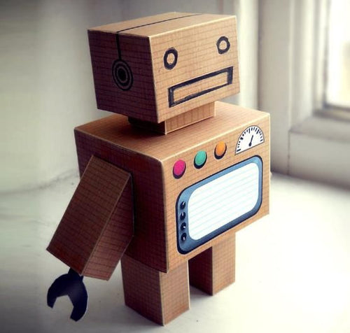 (Wednesday or Thursday) Art Break: Cardboard Robots