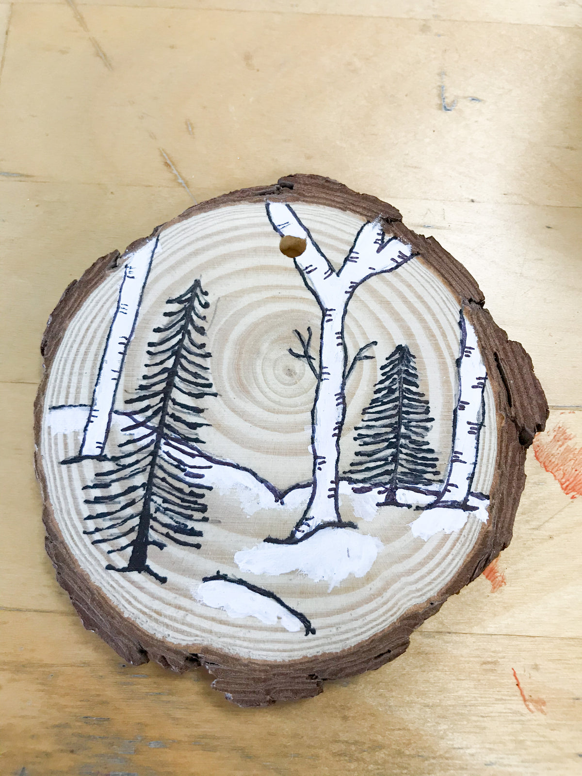 Holiday Wood Ornament Art Kit