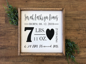 Birth Announcement Sign (MH29)