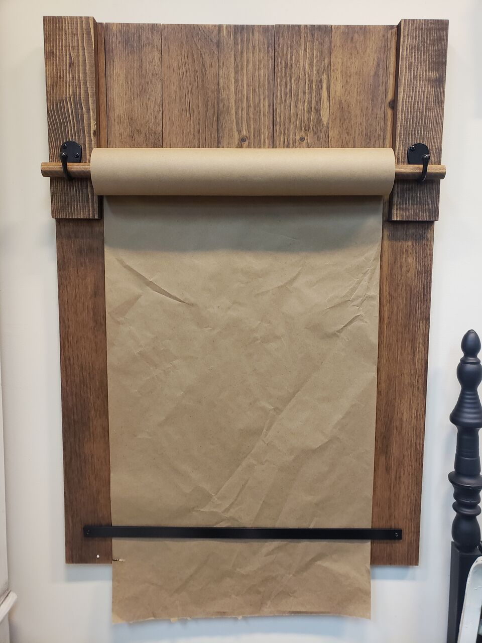 Large Wooden Paper Roll Holder Reserve a Seat Workshop Project