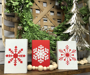 Wood Block Snowflake Set Walk In Workshop