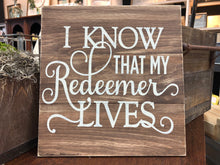 Load image into Gallery viewer, My Redeemer Lives Sgn Walk In Project or DIY Project Kit