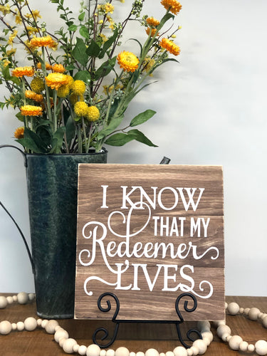 My Redeemer Lives Sgn Walk In Project or DIY Project Kit