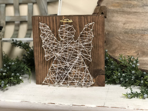 Angel String Art Wooden Sign Walk In Workshop