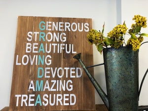 Generous Grandma Sign Walk In Workshop