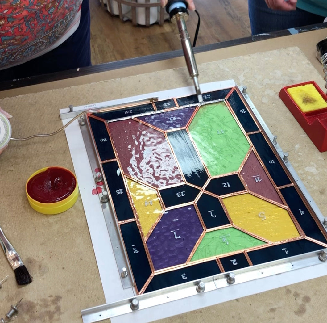 Stained Glass Workshop Beginner Level using Copper Foil
