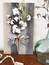 Load image into Gallery viewer, Pallet Board Sign with Cotton/Bow Walk In Workshop