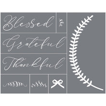 Load image into Gallery viewer, Blessed Grateful Thankful Mesh Stencil