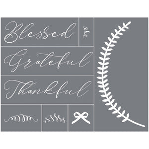 Blessed Grateful Thankful Mesh Stencil