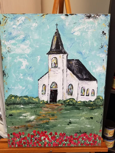 Church Pallet Knife Painting Workshop