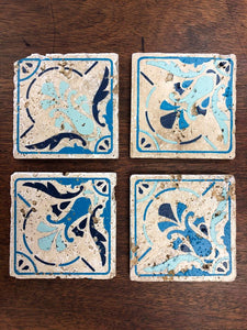 Set of 4 Stone Coasters Walk In Workshop Project-Choose From Many Design Options
