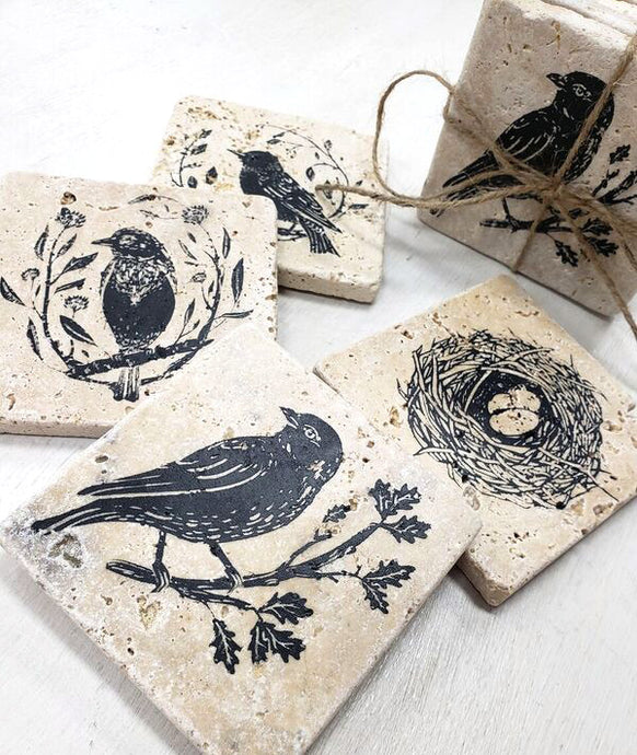 Stone Coaster (set of 4) Walk In Workshop (More designs available)