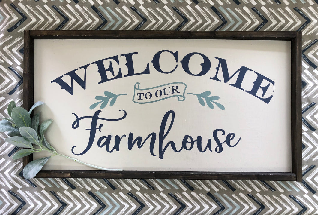 Welcome to our Farmhouse Sign(MH18)