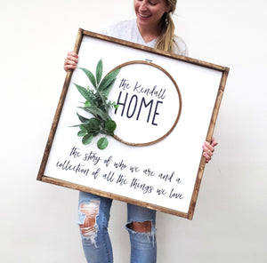 Home Wreath Wood Sign (MH1)