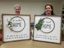 Load image into Gallery viewer, Home Wreath Wood Sign (MH1)