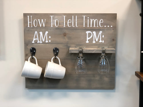 How to Tell Time Wine Glass/Cup Holder Walk In Workshop Project