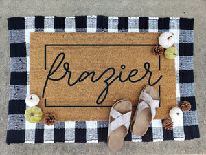 Door Mat Walk In Workshop Project-Choose From Many Design Options