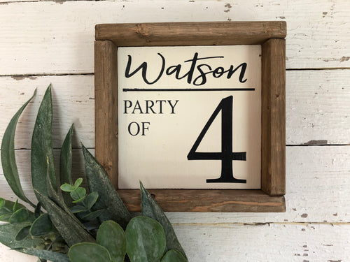 Party of 4 Sign(MH8)