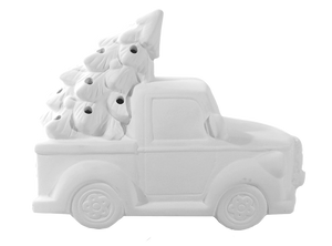 *LIMITED* Ceramic Truck with Christmas Tree and Lights