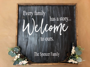 Every Family Has A Story Welcome to Ours (MH2)
