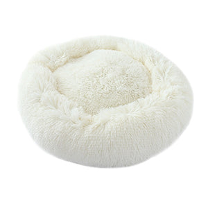 Soft Long Plush Round Pet Bed