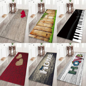 3D HOME Letter Printed Area Rug