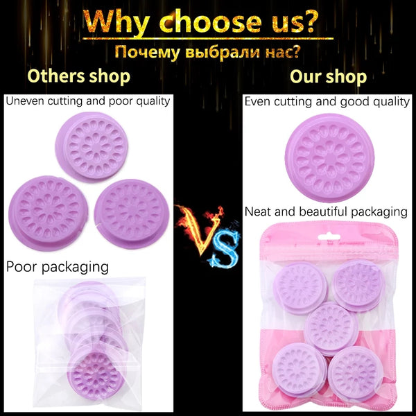 100 psc PINK Eyelash glue holder Adhesive Pallet Eyelash Extension glue pads stand on eyelash plastic