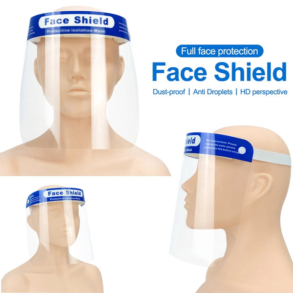 Full Face Shield Visor Protection Mask Sheild Safety Clear PPE
