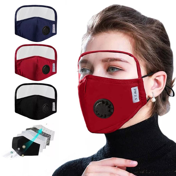 Protective Cotton Mask Integrated With Goggles Mask With Breathing